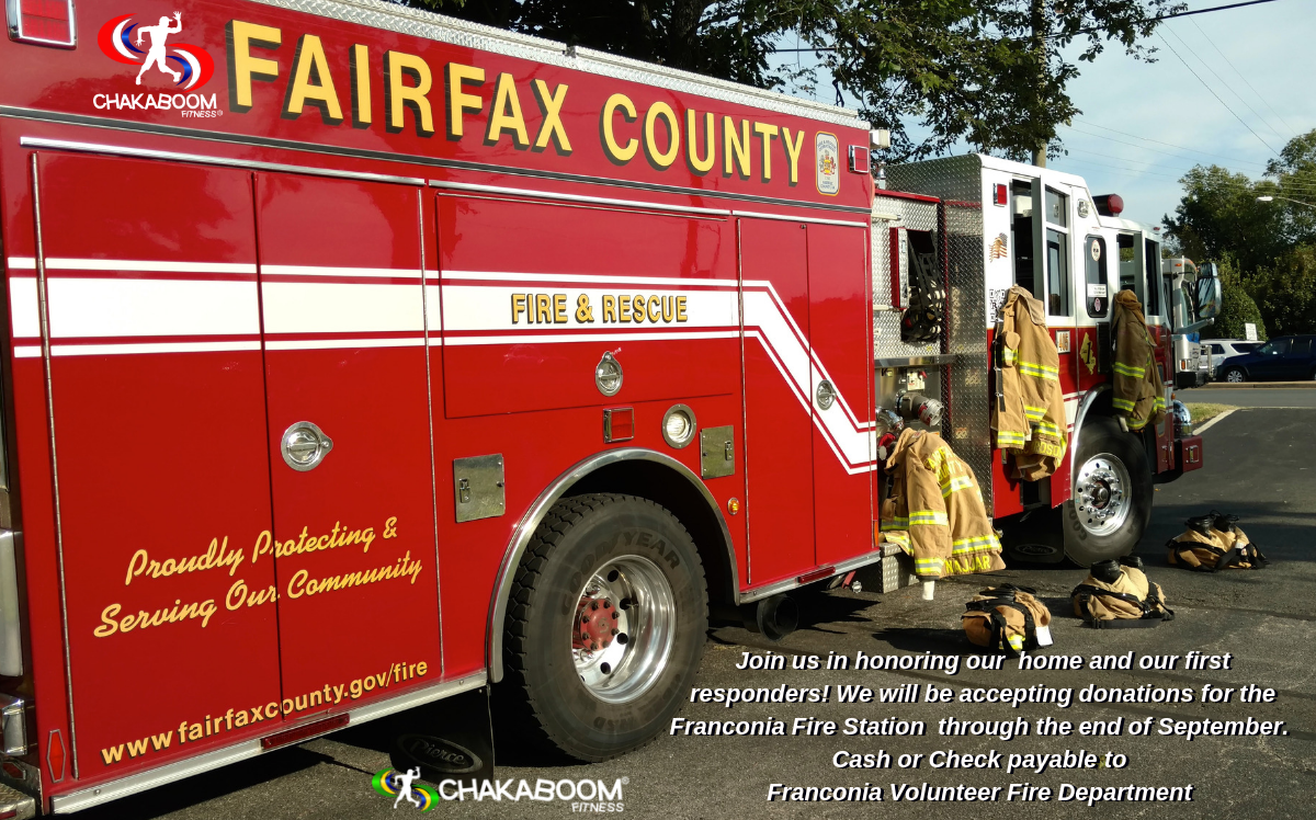 Join us as we honor our home and our first responders - all week beginning 9-11-17 we will be accepting donations for the Franconia Fire House - case or check make payable to the Franconia Volunteer Fire Department